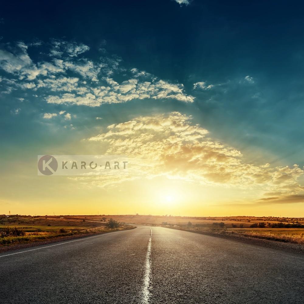 Afbeelding op acrylglas - Road Trip (Auto reis) , Multikleur , 3 maten , Wanddecoratie