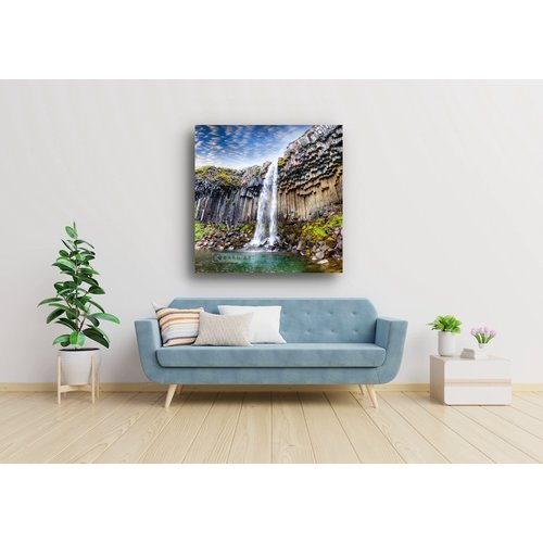 Karo-art Afbeelding op acrylglas  - Waterval   , Multikleur , 3 maten , Premium print