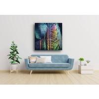 Karo-art Afbeelding op acrylglas  - Veren Pauw , Multikleur , 3 maten , Premium print