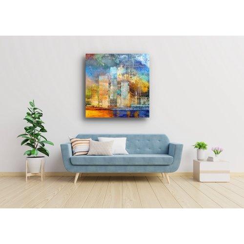 Karo-art Afbeelding op acrylglas - Grote Stad , Multikleur , 3 maten , Premium print