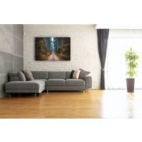 Karo-art Afbeelding op acrylglas - Weg in het Bos, Multikleur , 3 maten , Premium print
