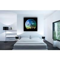 Karo-art Afbeelding op acrylglas  - Gekleurde Volle Maan
