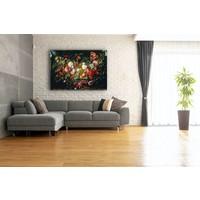 Karo-art Afbeelding op acrylglas - Slinger van bloemen en fruit, Jan Davidsz de Heem