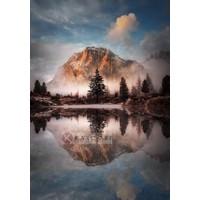 Karo-art Schilderij - Prachtig Landschap , Multikleur , 3 maten , Premium print