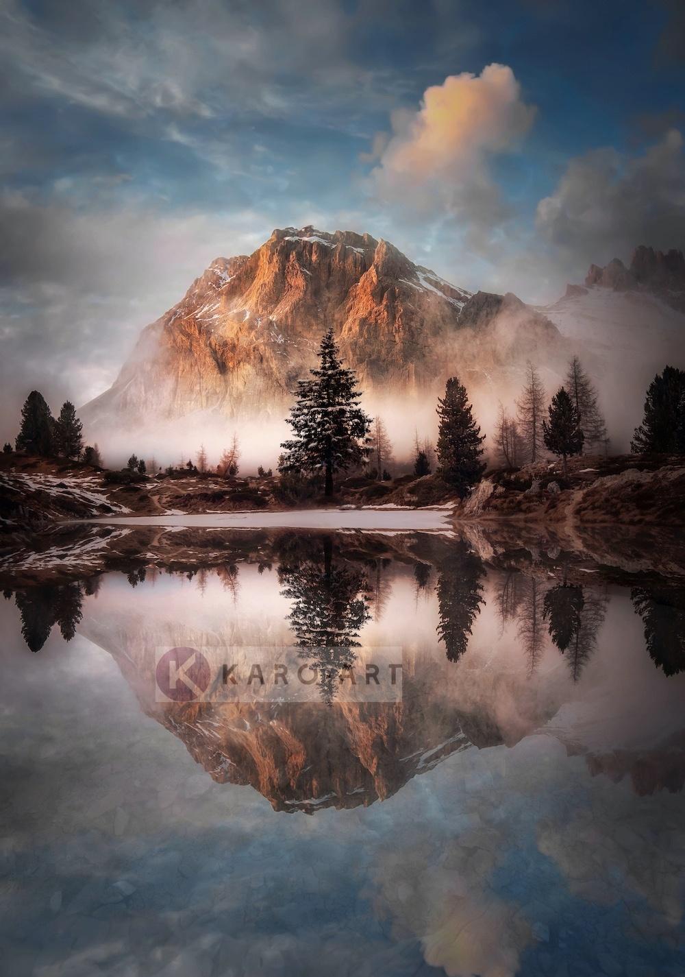 Afbeelding op acrylglas - Prachtig Landschap