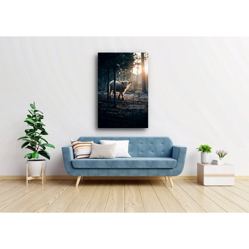 Karo-art Afbeelding op acrylglas - Witte Gehoornde Jak