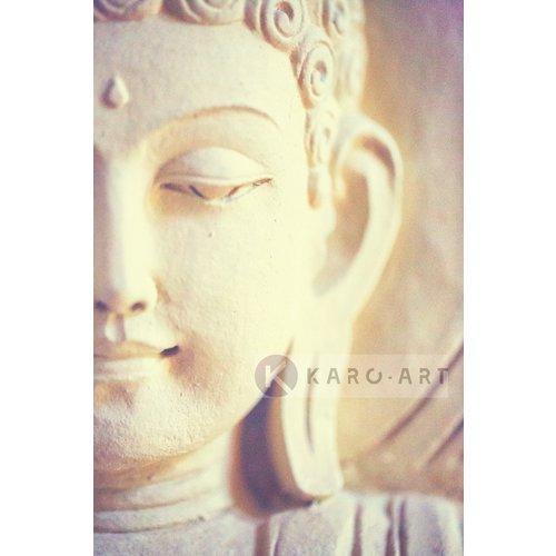 Karo-art Schilderij - Lichte Boeddha