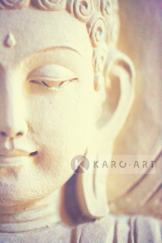 Schilderij - Lichte Boeddha