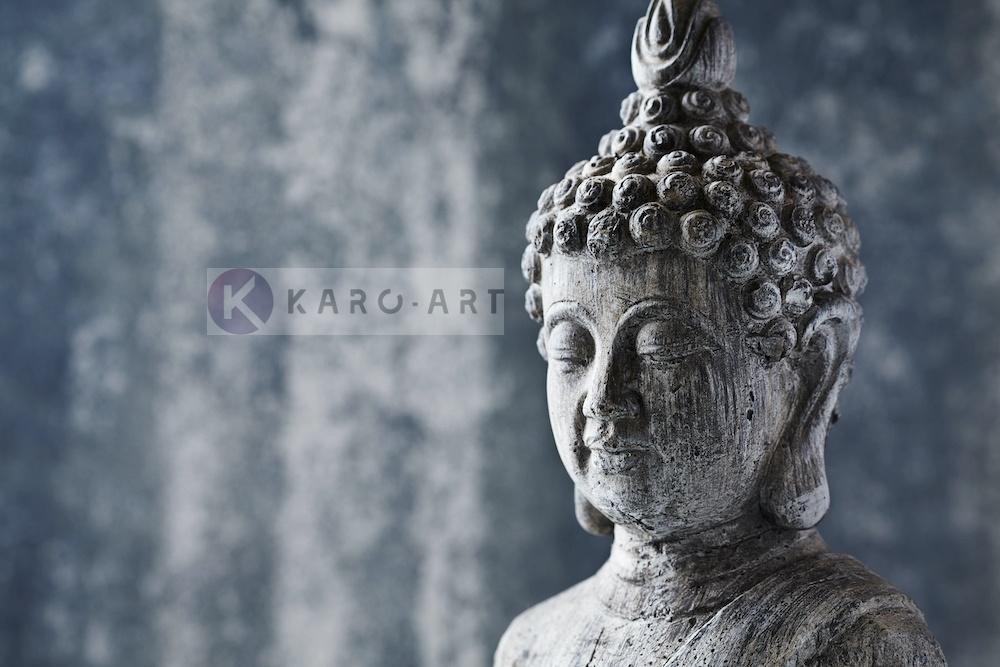 Schilderij - Grijze Boeddha