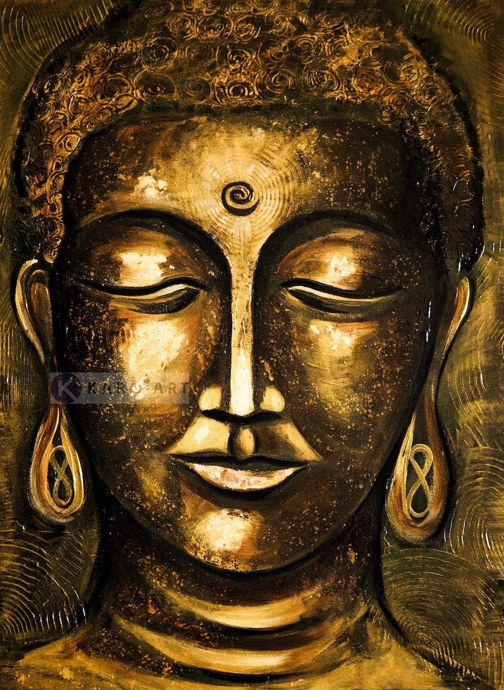 Schilderij - Boeddha Verlichting (print op canvas)