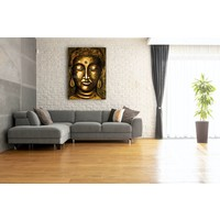 Karo-art Schilderij - Boeddha Verlichting (print op canvas)