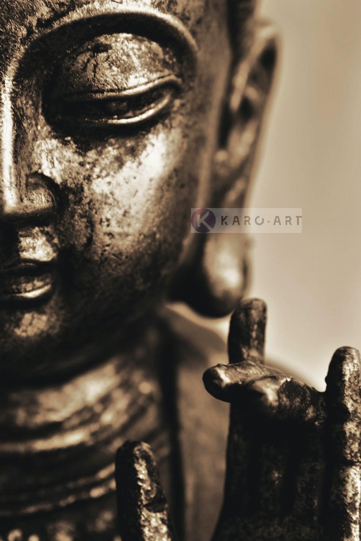 Schilderij - Lachende Boeddha