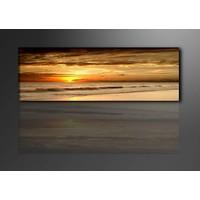 Schilderij - Sunset, Oranje, 120X40cm, 1luik