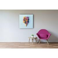 Karo-art Afbeelding op acrylglas - Bloemenijsje