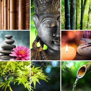 Karo-art Schilderij - Boeddha collage