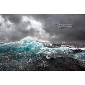 Karo-art Schilderij - Woeste zee