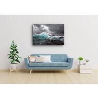 Karo-art afbeelding op acrylglas - Woeste zee
