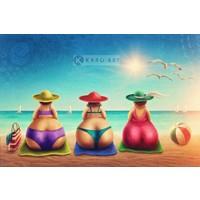 Afbeelding op acrylglas - 3 gezellige dames