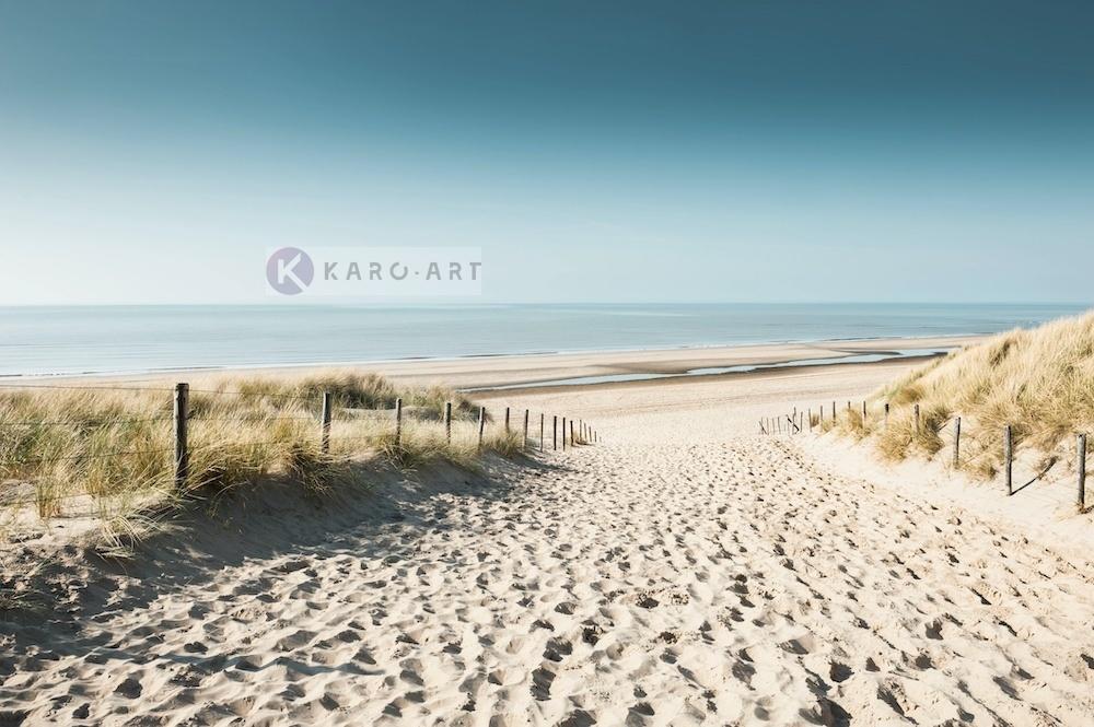 Karo-art Afbeelding op acrylglas - Zicht op de Noordzee, Noordwijk