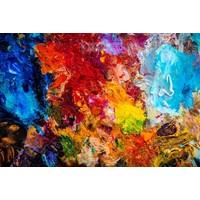 Karo-art Schilderij - Kleurenpalet  , Multikleur , 3 maten , Wanddecoratie
