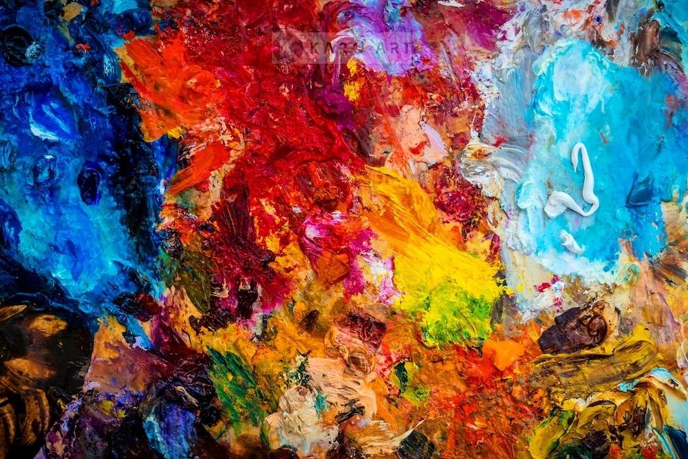 Schilderij - Kleurenpalet