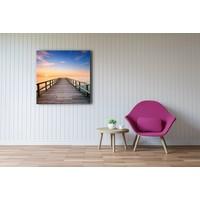 Karo-art Afbeelding op acrylglas - Pier bij zonsondergang