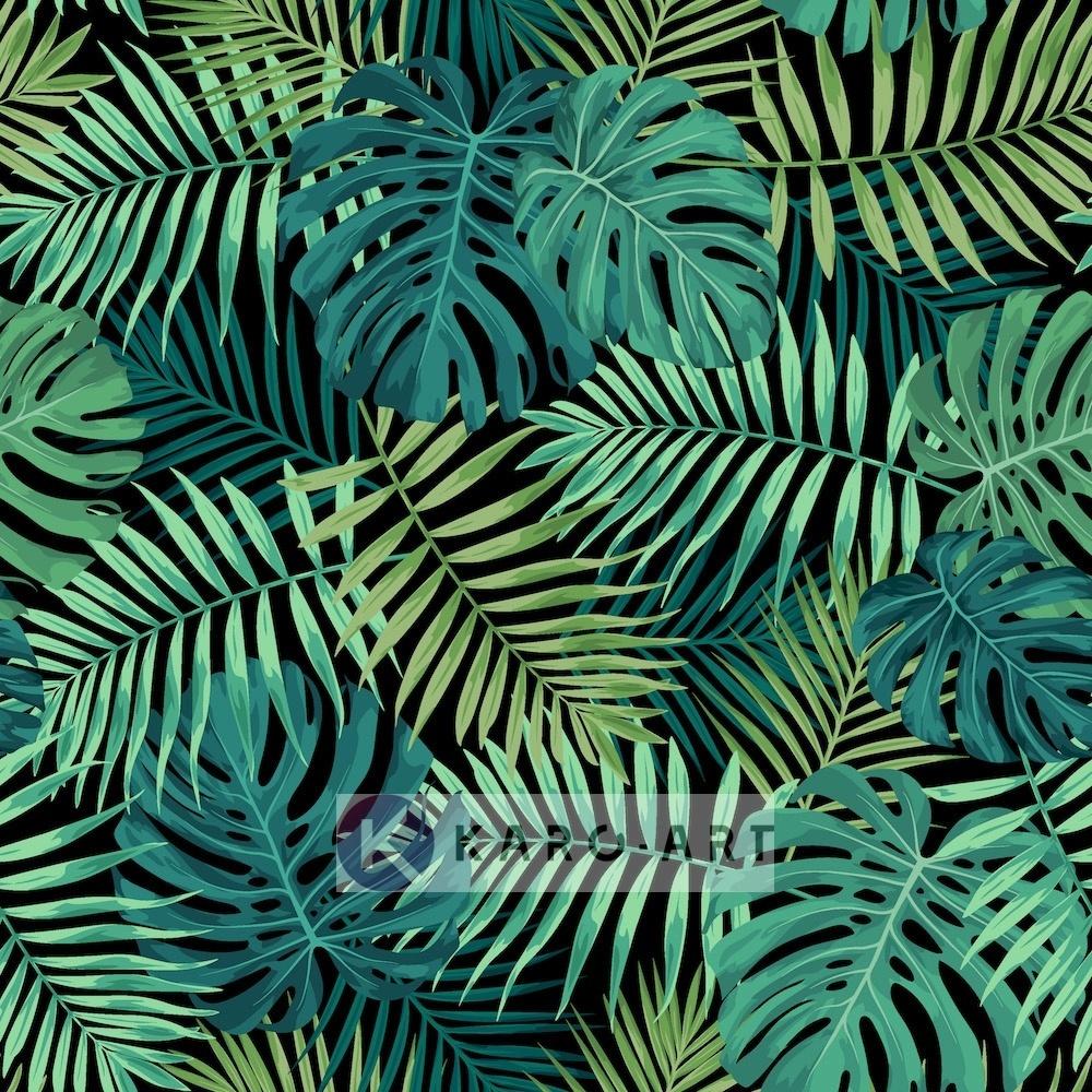 Afbeelding op acrylglas - Jungle Bladerdek