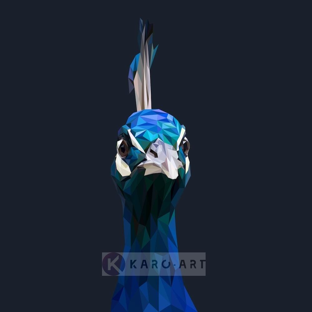Afbeelding op acrylglas - Pauw, digitaal