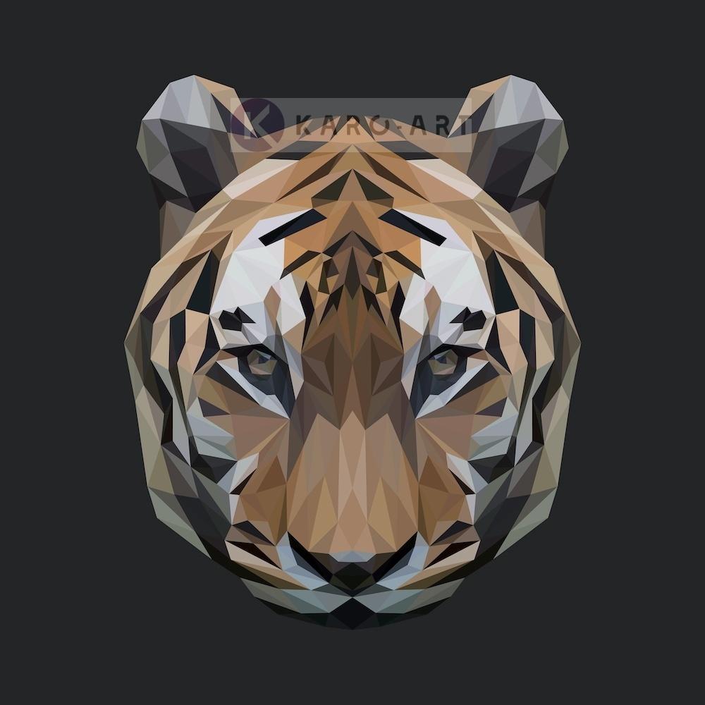 Afbeelding op acrylglas - Tijger, digitaal