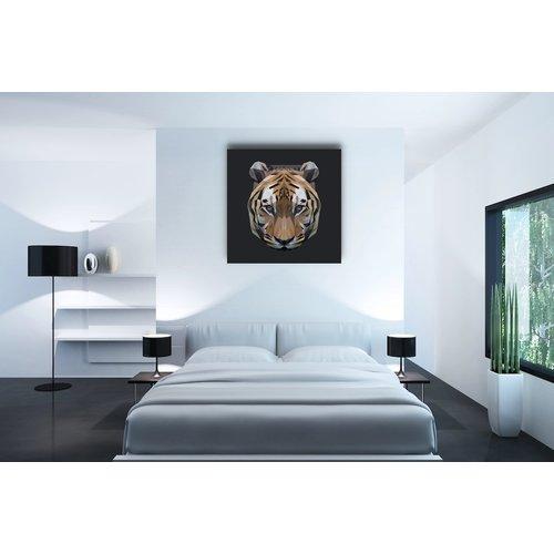 Karo-art Afbeelding op acrylglas - Tijger, digitaal