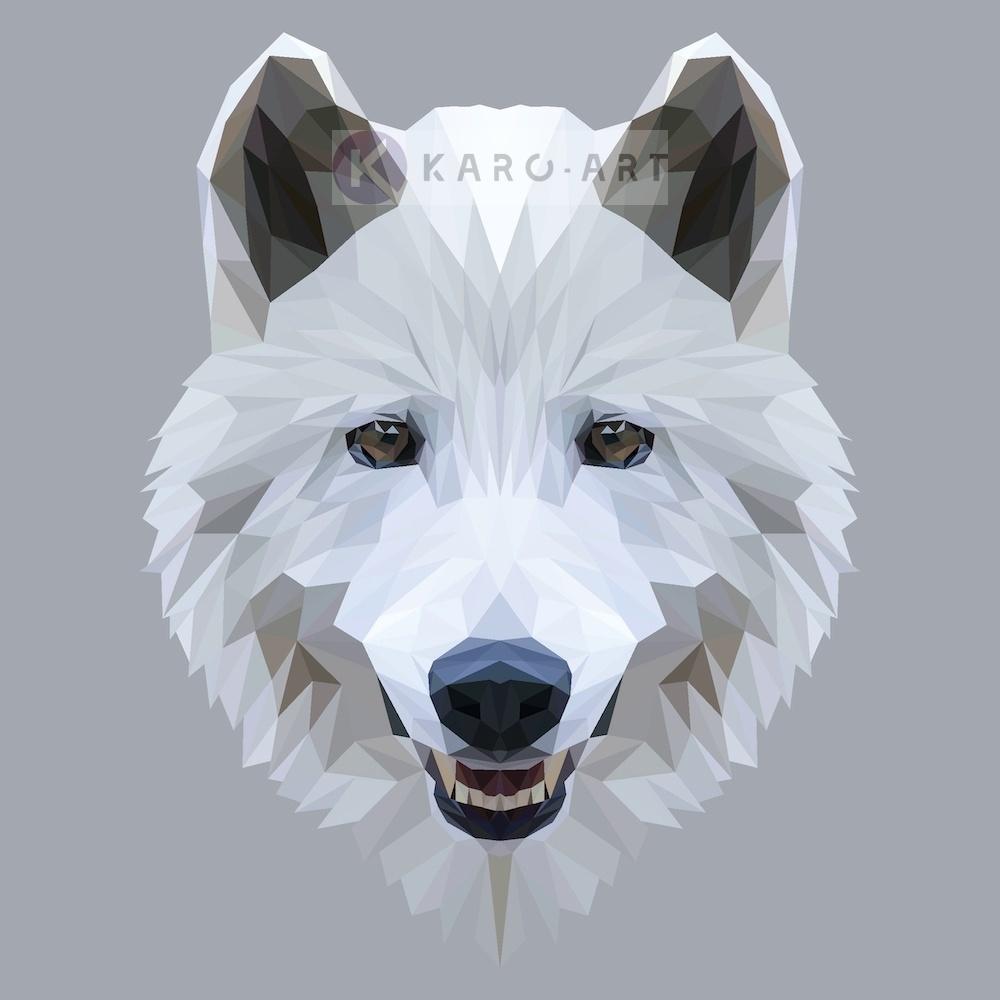 Afbeelding op acrylglas - Wolf, digitaal