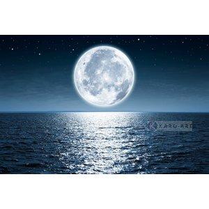 Karo-art Schilderij - Volle maan