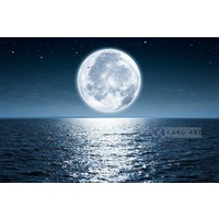 Karo-art Afbeelding op acrylglas - Volle maan