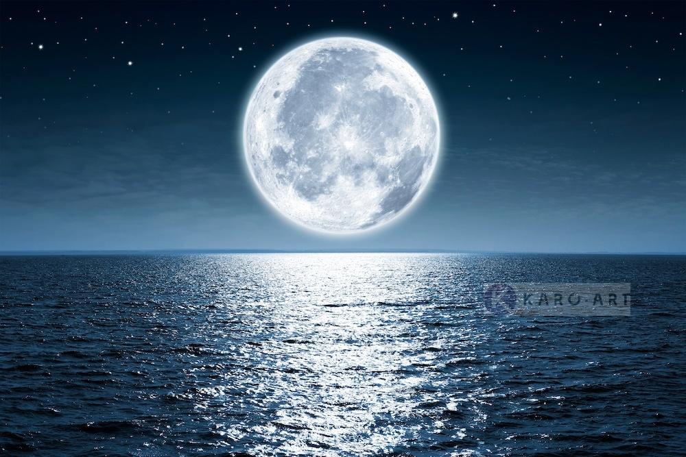 Afbeelding op acrylglas - Volle maan