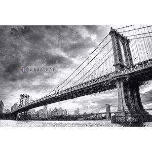 Karo-art Schilderij - Manhattan Bridge