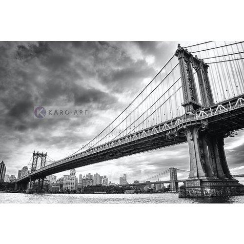 Karo-art Afbeelding op acrylglas - Manhattan Bridge