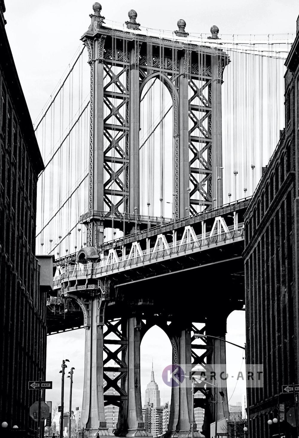 Afbeelding op acrylglas - Manhattan Bridge II