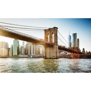 Karo-art Schilderij - Brooklyn Bridge, New York