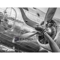 Karo-art Afbeelding op acrylglas - Vintage propeller vliegtuig