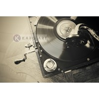 Karo-art Afbeelding op acrylglas - Vintage platenspeler