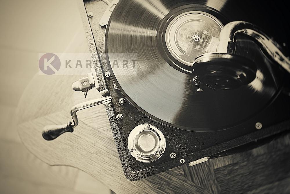 Afbeelding op acrylglas - Vintage platenspeler