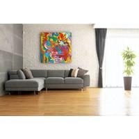 Karo-art Afbeelding op acrylglas - Abstract Aquarel, print op canvas