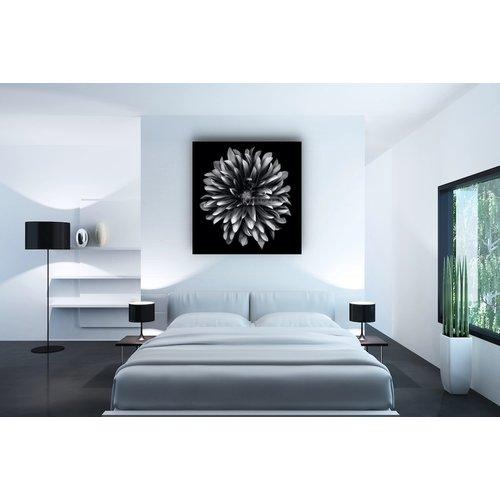 Karo-art Afbeelding op acrylglas - Dahlia Zwart-Wit