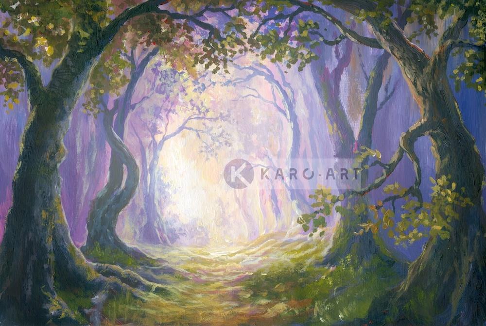 Afbeelding op acrylglas - Sprookjesbos