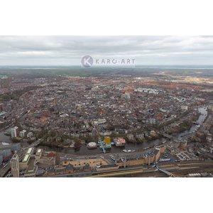 Karo-art Schilderij - Groningen, luchtfoto