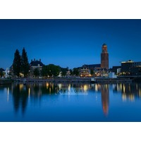 Karo-art Schilderij - Zwolle in de avond