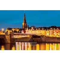 Karo-art Schilderij - Maastricht, Sint Servaas brug , Multikleur , 3 maten , Premium print,