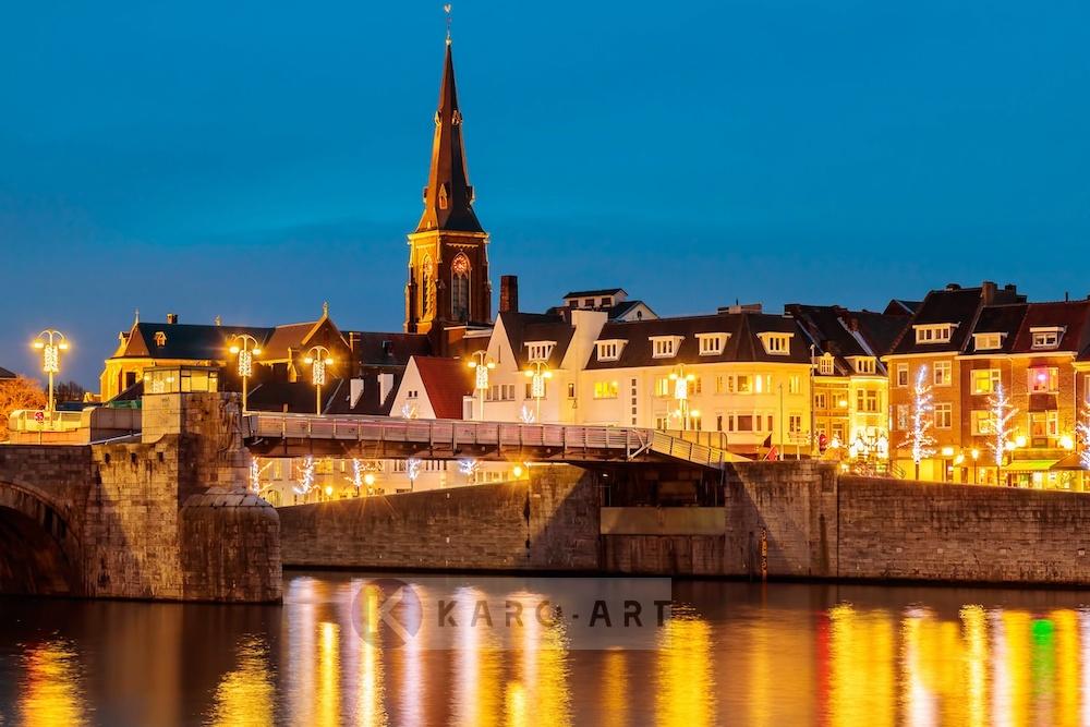 Schilderij - Maastricht, Sint Servaas brug