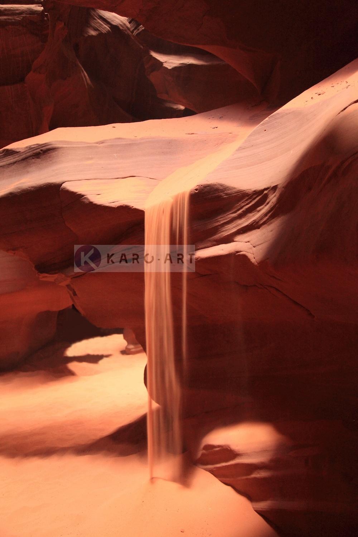 Afbeelding op acrylglas - Vallend Zand
