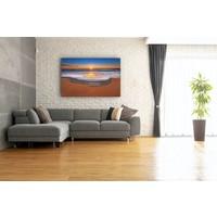 Karo-art Schilderij - Zonsondergang aan het water